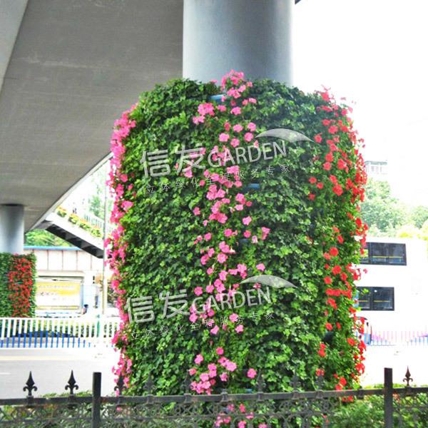 供应高架桥花盆 桥墩绿化花盆绿化方案 组合容器