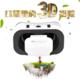 供应新款千幻vr眼镜vrbox虚拟现实5代手机3d眼镜头戴式定制LOGO厂家