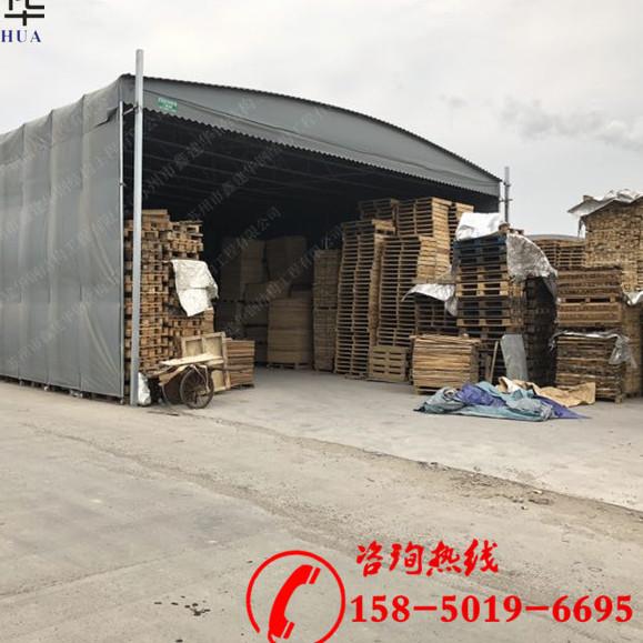 杭州供应推拉篷雨棚移动伸缩仓库棚门市商铺活动蓬厂家