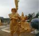 供应玻璃钢铜雕春秋关公铜雕彩绘定制加工历史人物铜雕塑