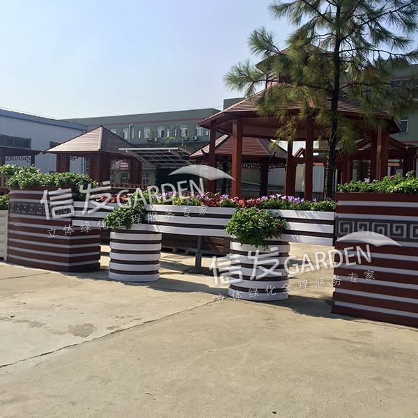 隔离带隔离栏组合花箱 中国风花箱绿化护栏花箱 经久耐用