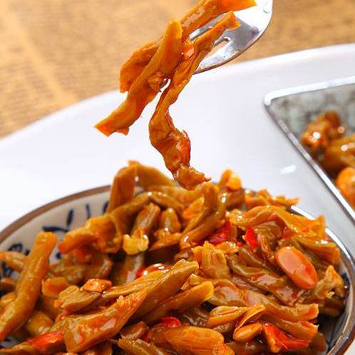 陕南皮豇豆(香辣型),色鲜味美,辛辣香脆,堪称石泉干菜一绝