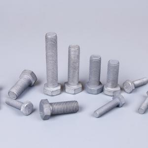 螺栓现货规格齐全热镀锌外六角螺丝高强度螺栓4.8级紧固件定做批