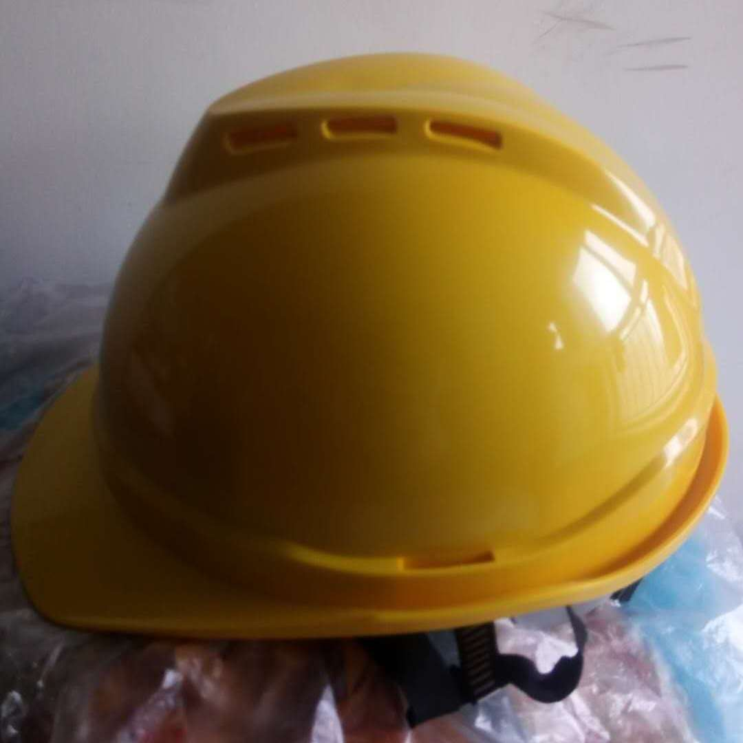 天台添固ABS塑料V型安全帽厂家直销高强度建筑施工劳动防护