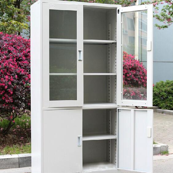 办公文件柜铁皮柜子钢制档案柜资料柜财务凭证柜带锁储物柜收纳箱