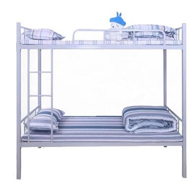 铁床双层铁艺床工地上下铺高低床成人员工宿舍双层铁架子床厂家