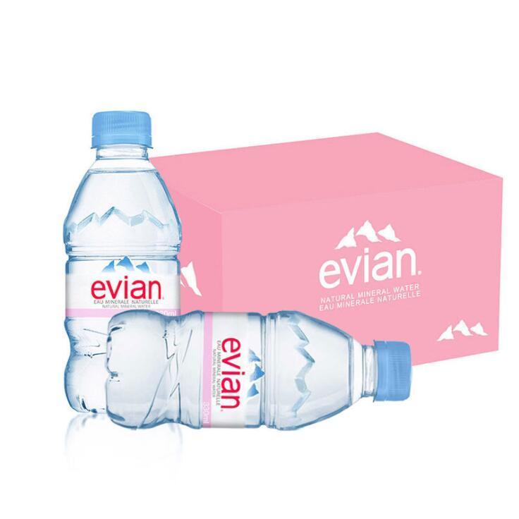 供应 Evian法国依云矿泉水330ml24瓶整箱天然弱碱性水原装进口依云水