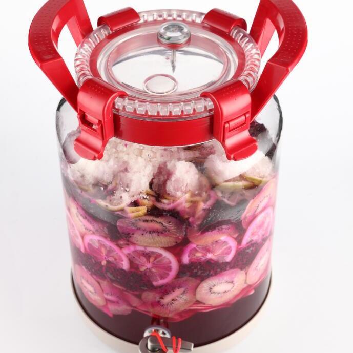 环保高白玻璃罐专业泡菜排气设计卡扣