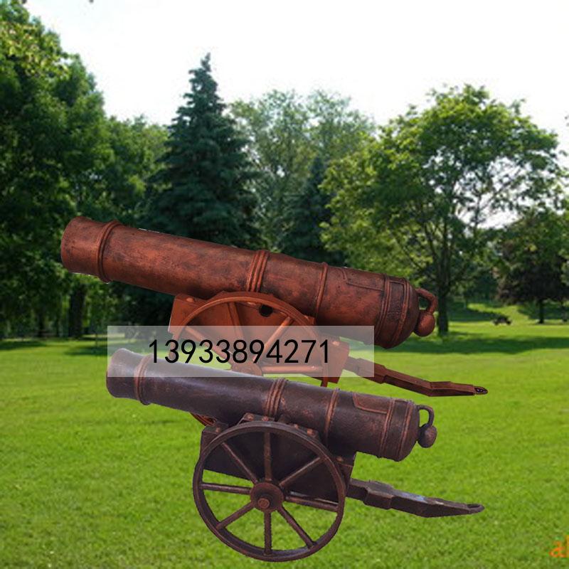 厂家直销现货玻璃钢雕塑仿真大炮雕塑复古大炮雕塑树脂摆件
