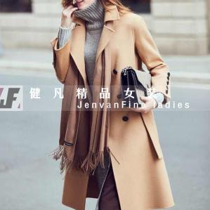 高档双面绒大衣|品牌女装尾货|秋冬时尚防寒服货源批发