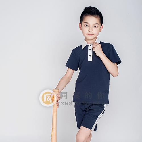 幼儿园园服夏季时尚运动套装小学生校服定制