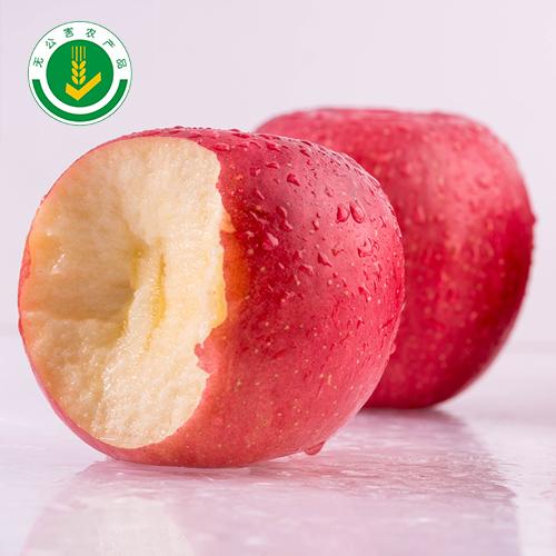 凤翔慧农果业供应红富士苹果脆甜多汁无打蜡无崔红9头精品礼盒装包邮