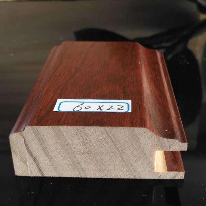 斯柏林JHQ-80平开衣柜门拼框线免漆包覆新西兰松木不变形衣柜实木线
