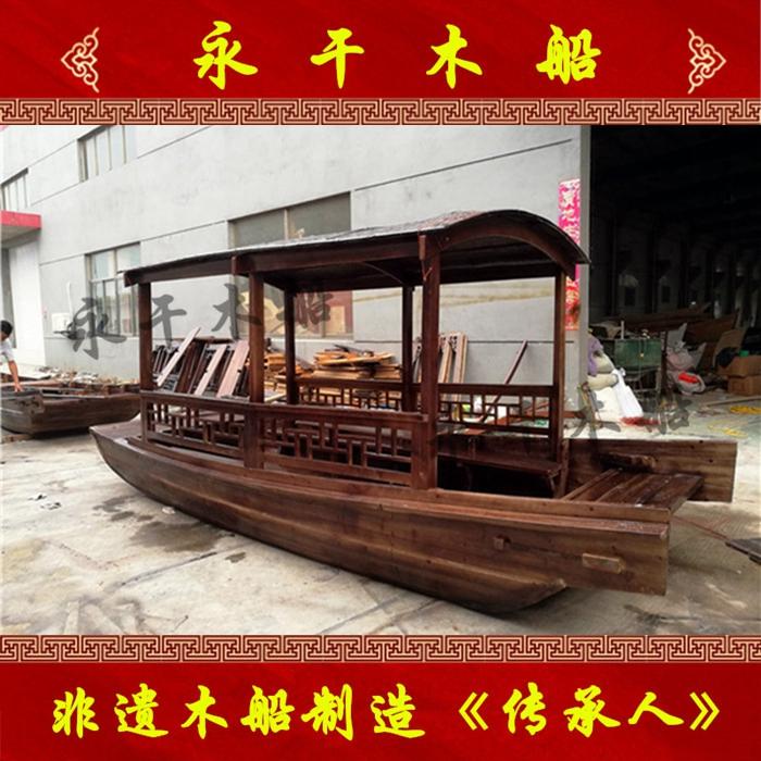 江苏湖南定制酒店 饭馆餐饮木船厂家 室内景观装饰道具小木船