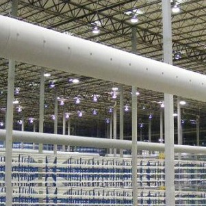 苏州瀑布暖通T型系列布风管布袋风管织物风管纤维织物风管
