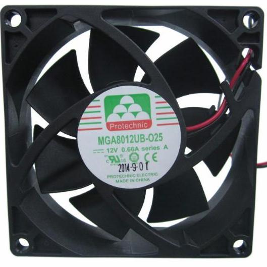 Protechnic DC24V 0.7A IP68防水风扇MGA12024XB-O38IP68