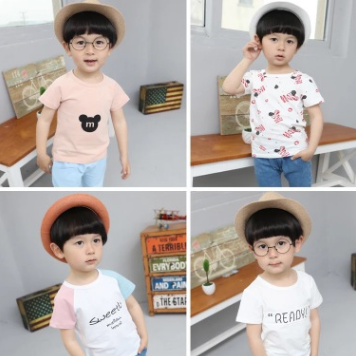 供应 短袖童t恤男孩纯棉夏季2018新款韩版休闲小孩打底衫童装