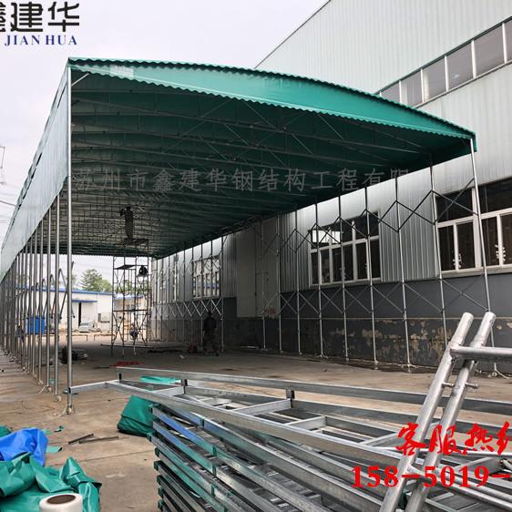 松江定做萬向腳輪推拉篷丨可移動伸縮雨棚丨工廠活動蓬廠家