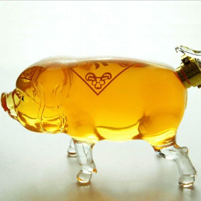 河北工艺酒瓶生肖猪造型玻璃瓶