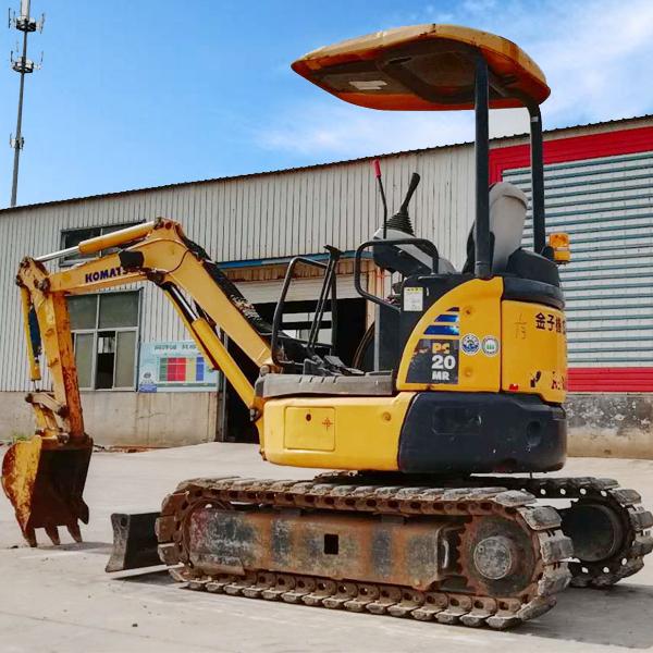 二手小松PC20MR-3挖掘机  临沂地区二手小挖机市场价格表