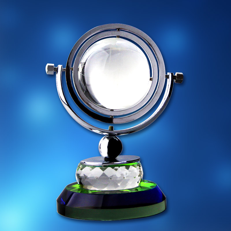 供应 水晶地球仪 精致水晶工艺品  地球仪 水晶摆件
