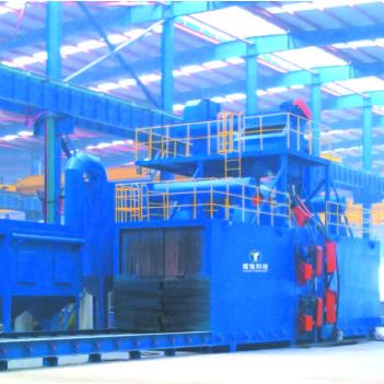 耀强HP-1020型通过式抛丸机钢材预处理生产线工业吸尘设备钢结构生产线钢结构设备