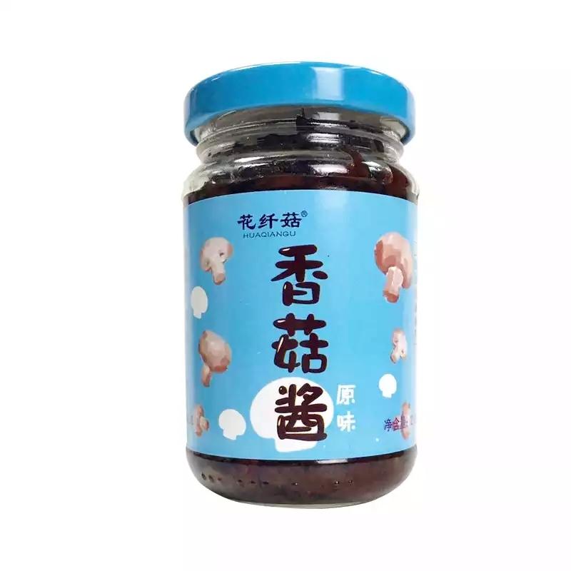 花纤菇香菇酱原味 拌面酱下饭酱  下饭菜210g拌饭酱瓶装香菇肉七夕