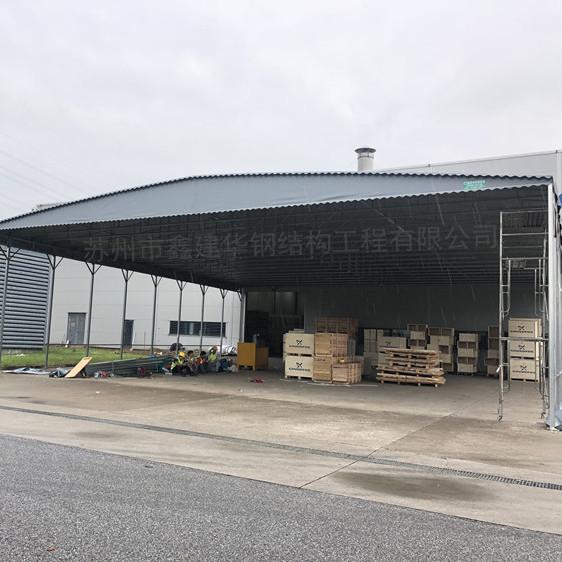 天津南开区大型推拉帐篷 活动仓库雨蓬 移动伸缩雨棚价格咨询