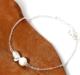 銀韓版甜美小清新天然淡水珍珠手鏈女簡約森系樹葉學生手飾品