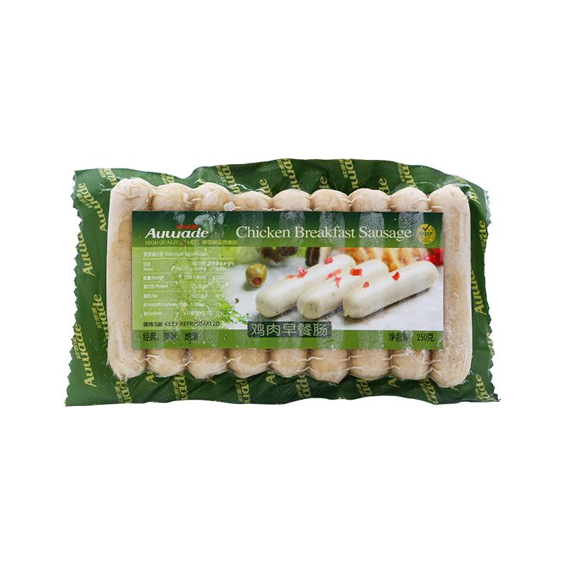 德国原装进口欧威德Auwade鸡肉早餐肠熏煮即食香肠250g