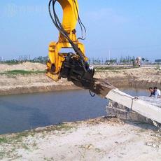 打桩机打桩锤挖掘机钩机钢板桩高频液压打桩机械