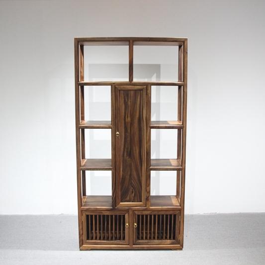 【家有名木】南美胡桃木自在·博纳博古架 现代简约新中式风格