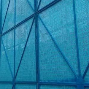 建筑工程安全爬架网 高空作业外围防坠落防护网 喷塑防锈脚手架