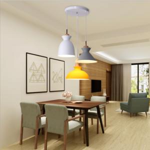 供应 北欧灯具现代三头餐厅吊灯简约个性创意吧台吊灯咖啡厅马卡龙吊灯