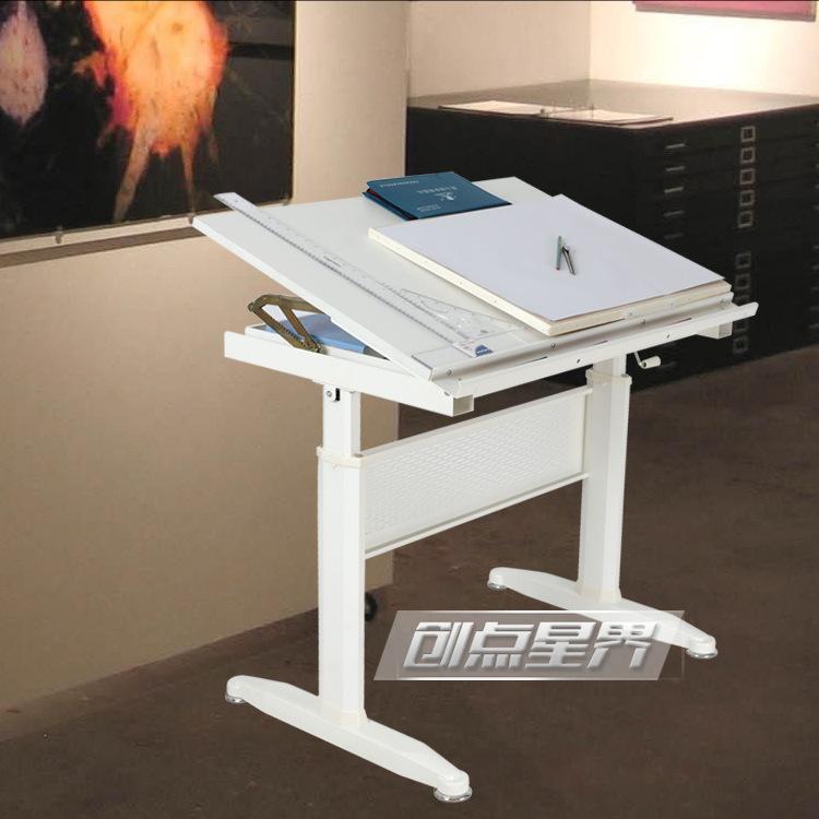 创点星界HTZ-02可升降桌腿专业制图桌书画桌建筑工程设计制图桌厂家