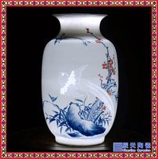 景德鎮陶瓷玲瓏鏤空花瓶 中式仿古插花瓶 家居裝飾工藝品擺件