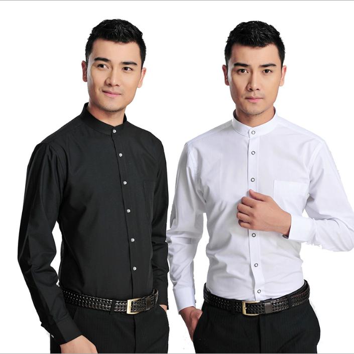 供应 2018高档男士长袖衬衫职业装商务正装免烫纯棉男纯色衬衣