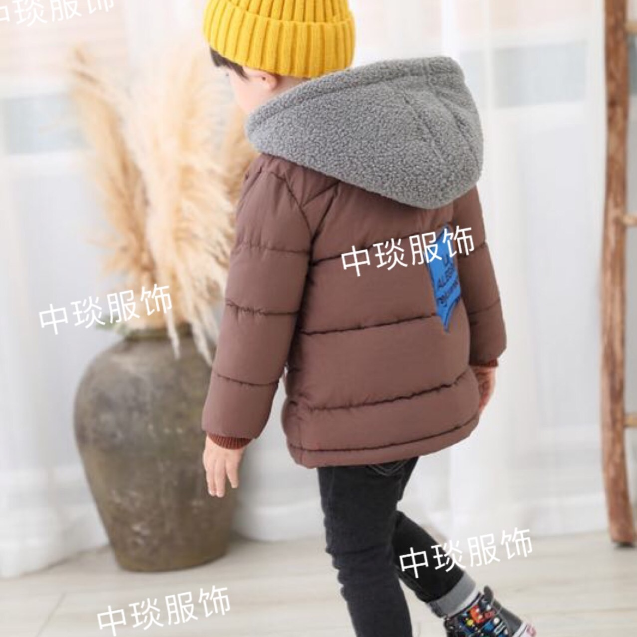 儿童冬季棉衣中小童咪咪乐品牌童装带帽外套批发