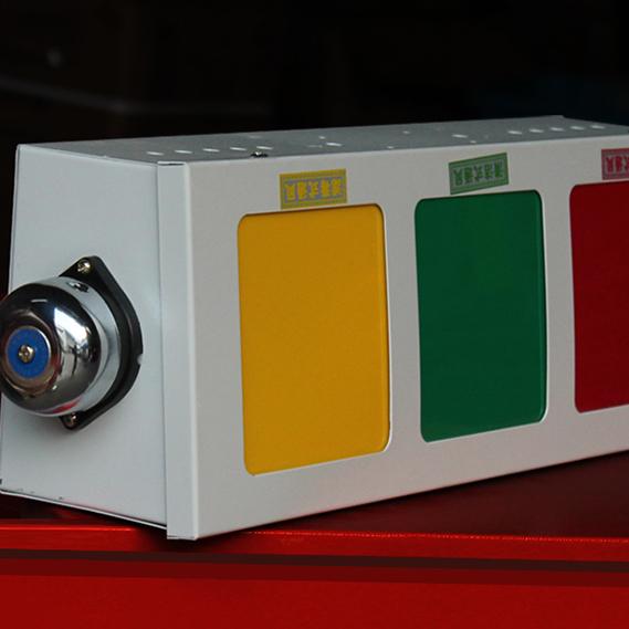 人防工程专用通风三色信号灯箱 防爆按钮 密闭接线盒*山东德武人防设备