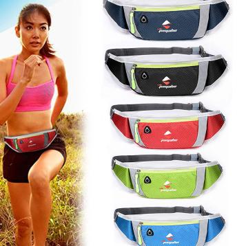 户外腰包工厂加印LOGO 手机腰包印字 定做跑步腰包 河北定做箱包 来图来样定做运动腰包