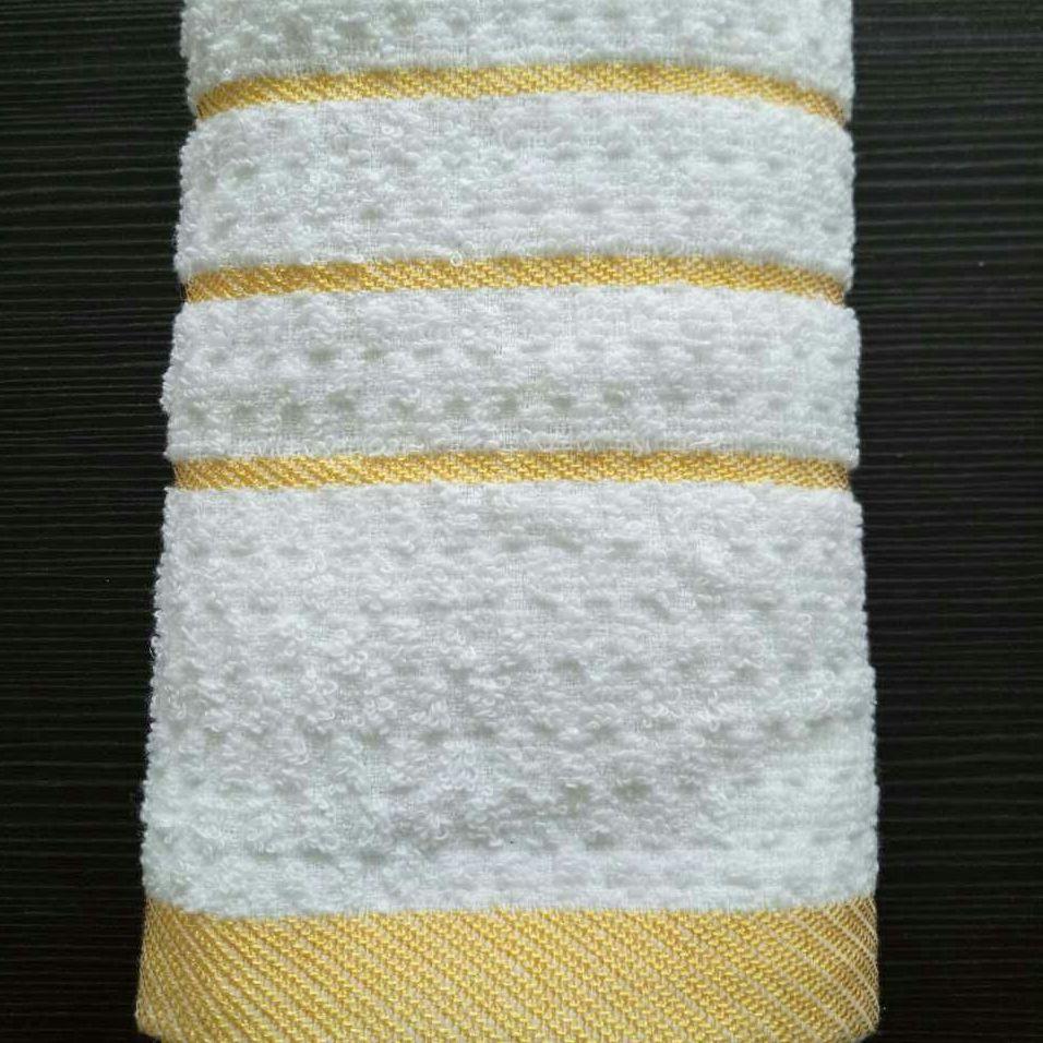 厂家直销 纯棉21支纱白毛巾 宾馆酒店毛巾 一次性洗浴毛巾批发