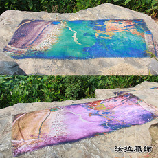围巾定做价格,印花围巾生产工厂直供-汝拉服饰 定做围巾报价