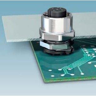 穿板式六方法兰M12航空电路板封装PCB板以太网交换机防水插座
