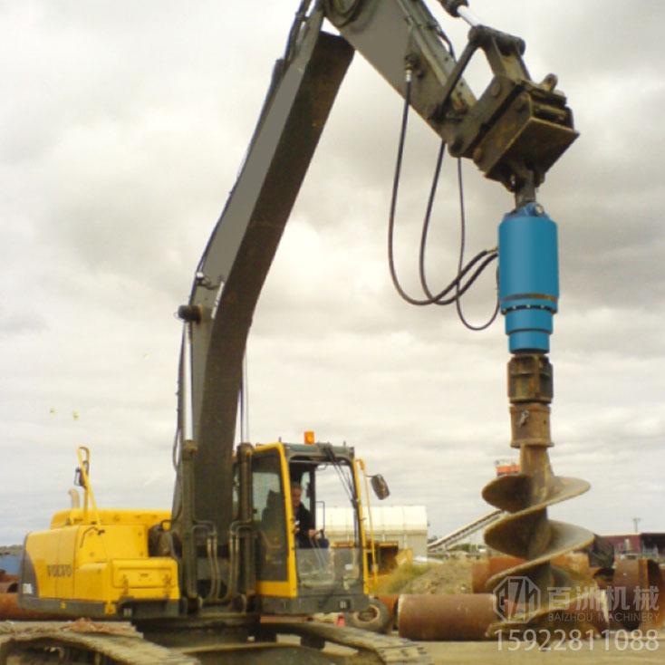挖掘机用螺旋钻机1.5m的坑1分钟