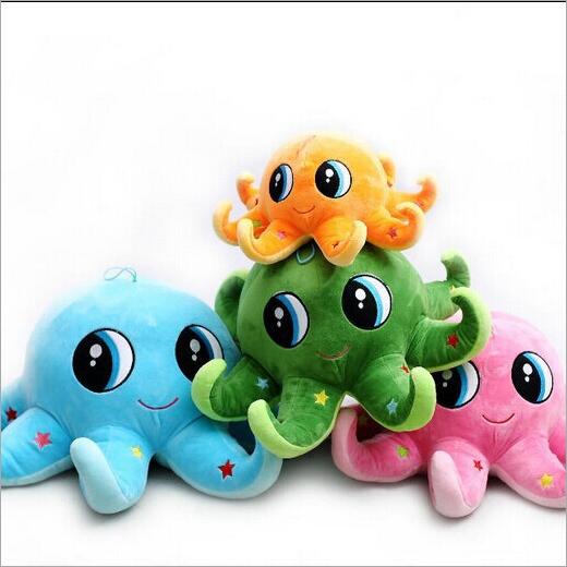 供應 八爪魚卡通可愛彩色抱枕毛絨玩具娃娃章魚公仔
