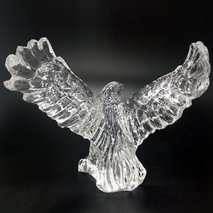 供应 创意水晶工艺品 老鹰形象奖杯 雄鹰展翅 白琉璃工艺品