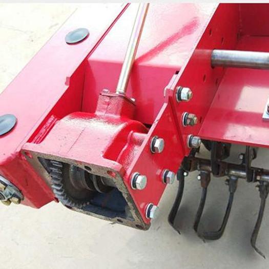 春耕12马力手扶拖拉机带动大棚松土旋耕果园开沟施肥机埋藤机
