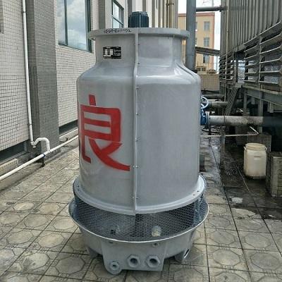 粤良冷却塔厂家直销 玻璃钢圆形逆流式冷却塔 小型冷却塔