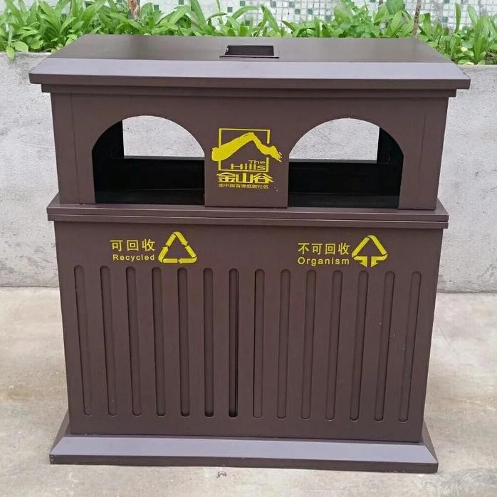 铸铝垃圾桶 特色小区绿化箱 花纹垃圾桶工艺精致