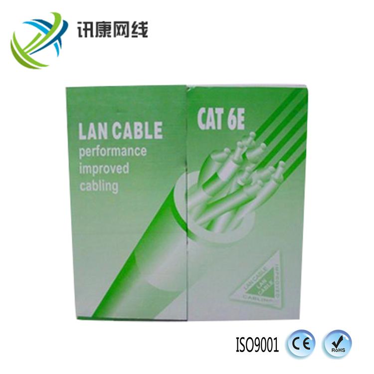 厂家直销 国标千兆 超六类网线 单屏蔽双绞线 整箱300足米 无氧铜